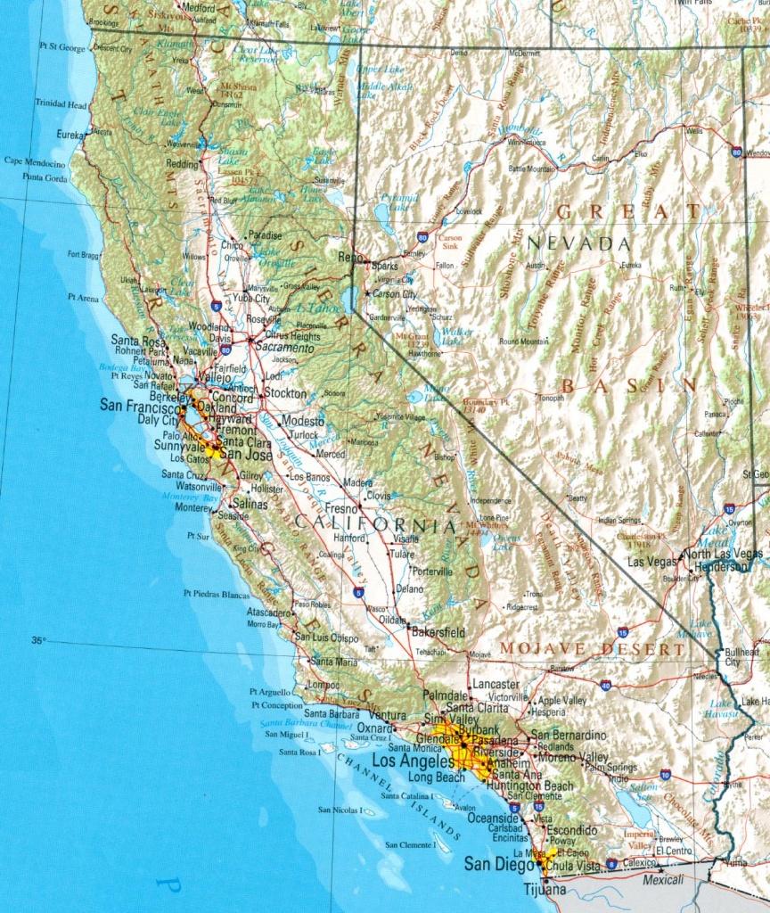 California Map Pdf – Bestinthesw - California Road Map Pdf