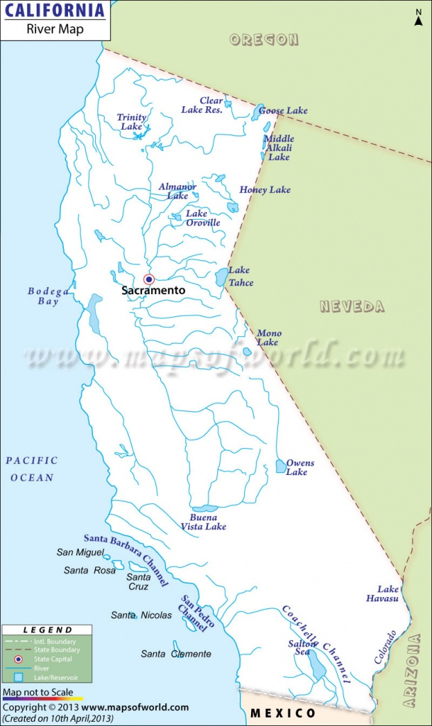 California Map Pdf Lakes Rivers And Water Resources The Golden State - Southern California Rivers Map