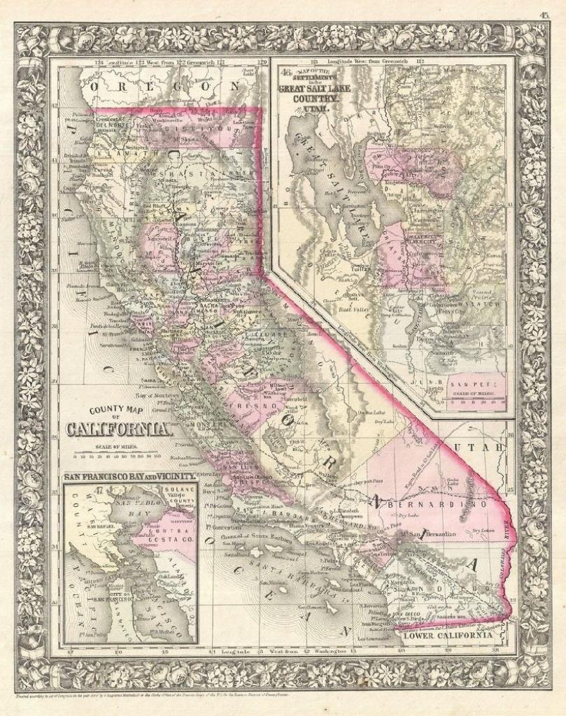 California Map Poster, Canvas, Print Sales - California Map Poster