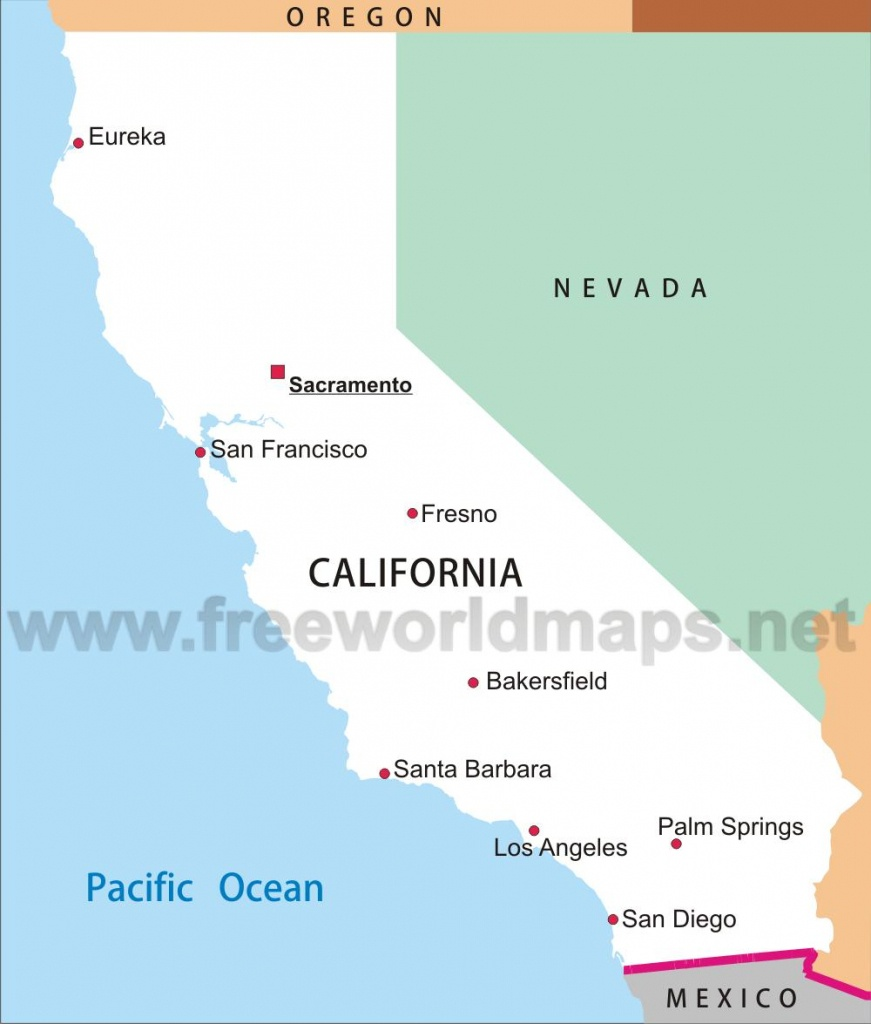California Maps - Simple Map Of California