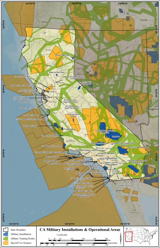 California Military Bases – Military Council - Map Of Army Bases In California