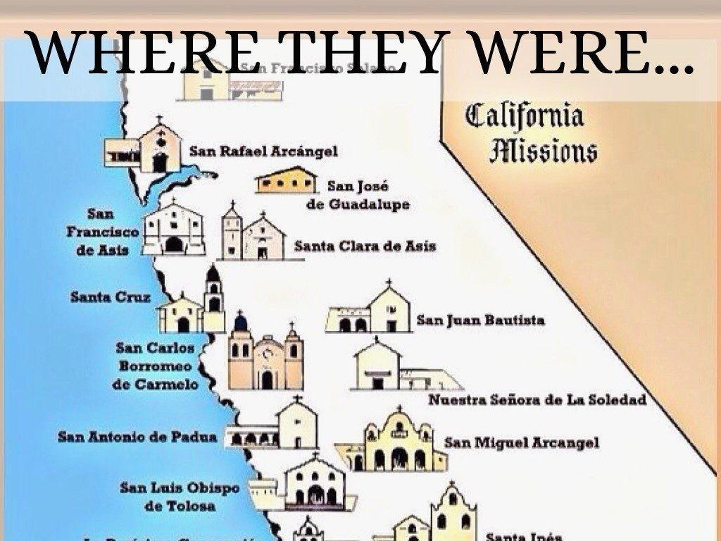 California Mission Map Printable   D1Softball - California Missions Map Printable