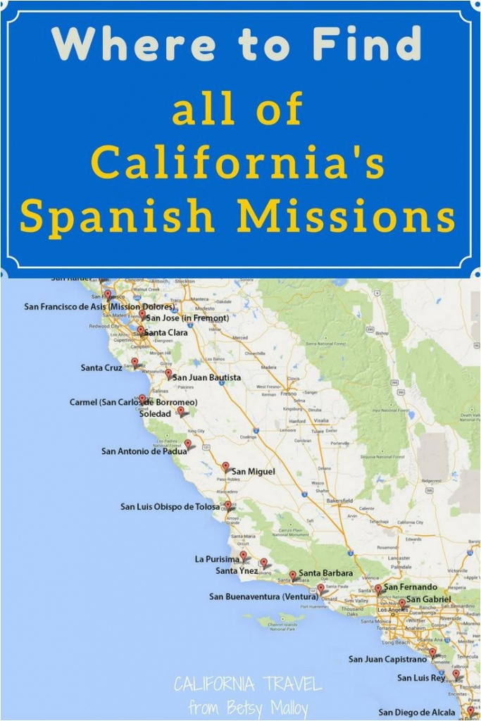 California Mission Map To Print On A Mission Map Of California S - California Missions Map Printable