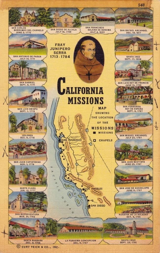 California Missions: We Studied These In California History In - California Missions Map For Kids