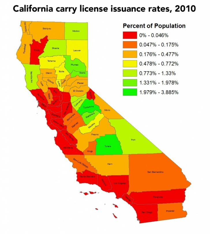 California Ccw Map