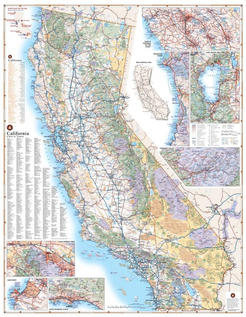 California Road Map - Benchmark Maps - Avenza Maps - California Road Atlas Map