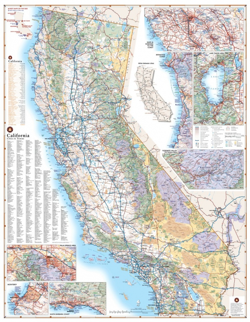 California Road Map - Benchmark Maps - Avenza Maps - California Road Map