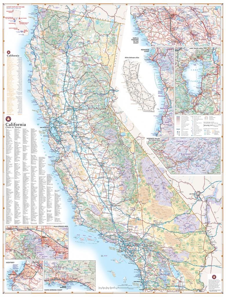 California Road Map — Benchmark Maps - Road Map Oregon California