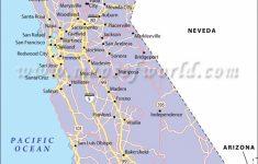 California Road Map, California Highway Map   Detailed Map Of California Cities