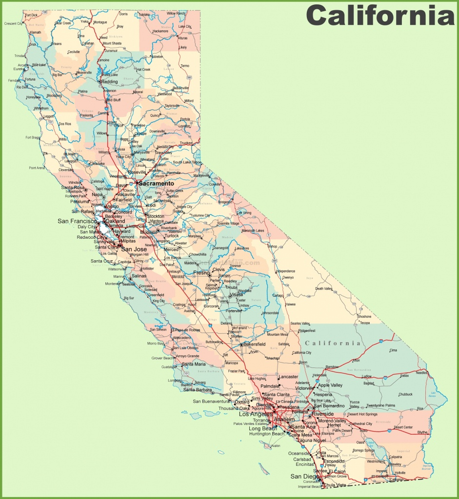 California Road Map - Detailed Map Of California Usa