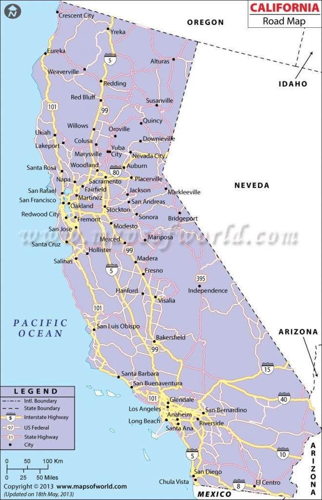 California Road Network Map | California | California Map, Highway - California Road Atlas Map