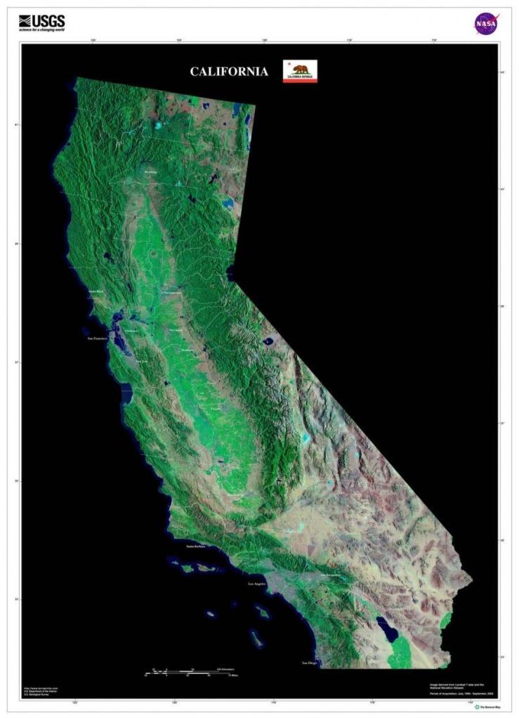 California Satellite Poster Map | Cartography | California Map - Printable Satellite Maps