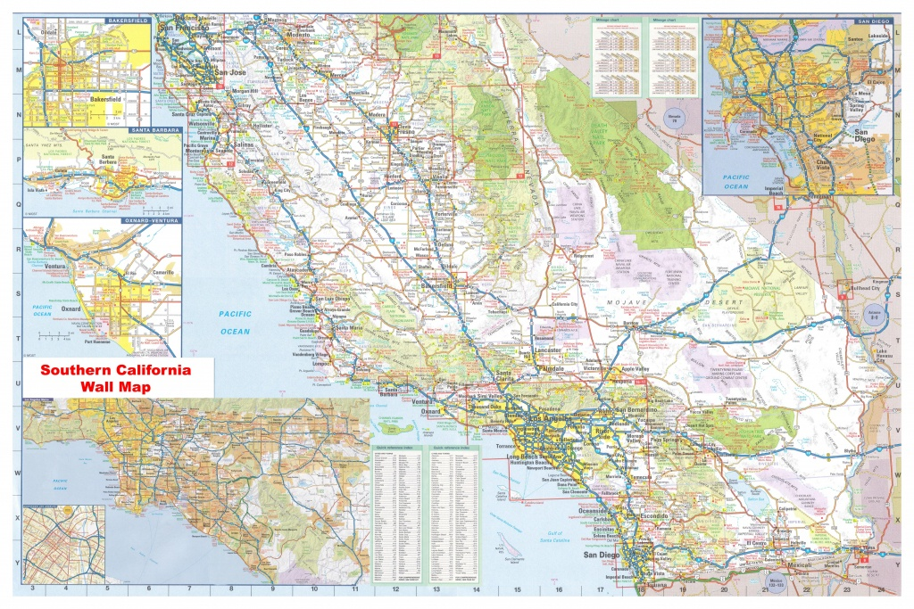 California Southern Wall Map Executive Commercial Edition - Southern California Wall Map