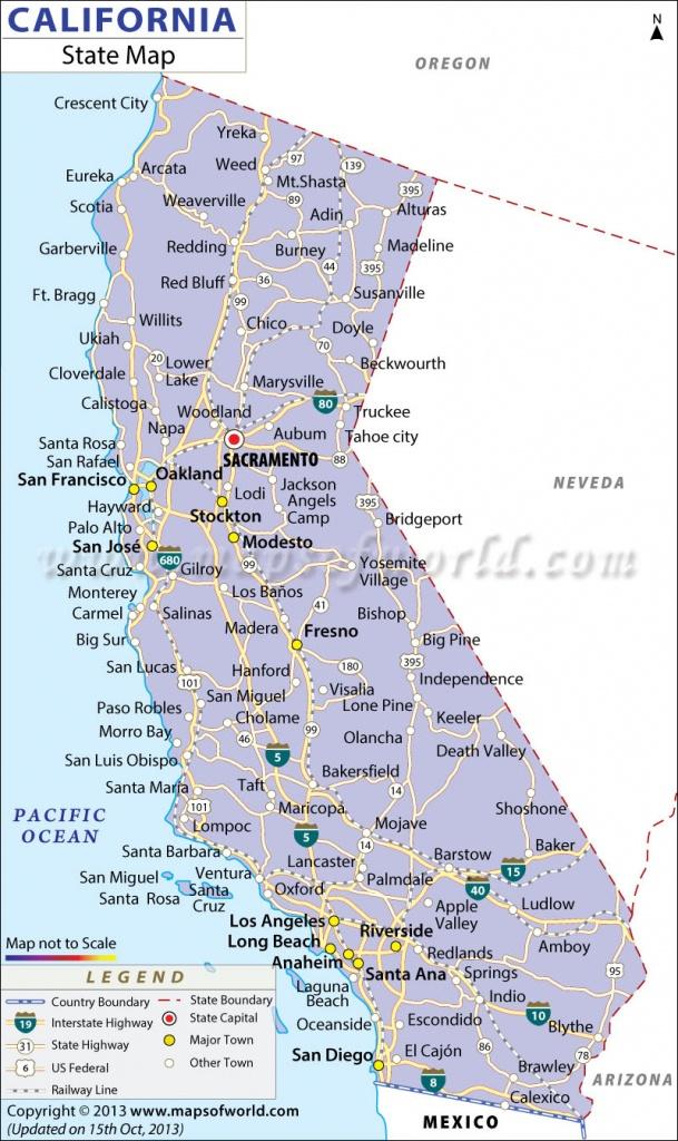 California State Map - California State Map With Cities