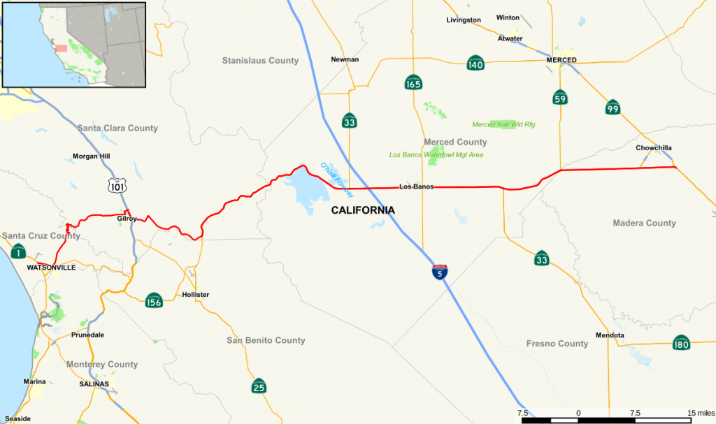 California State Route 152 - Wikipedia - Where Is Hollister California At On A Map