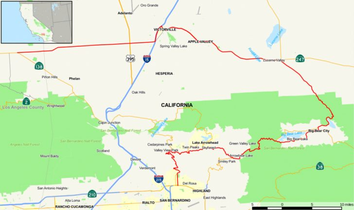 Twin Peaks California Map