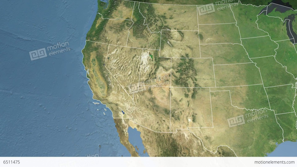 California State (Usa) Extruded. Satellite Map Stock Animation | 6511475 - Satellite Map Of California