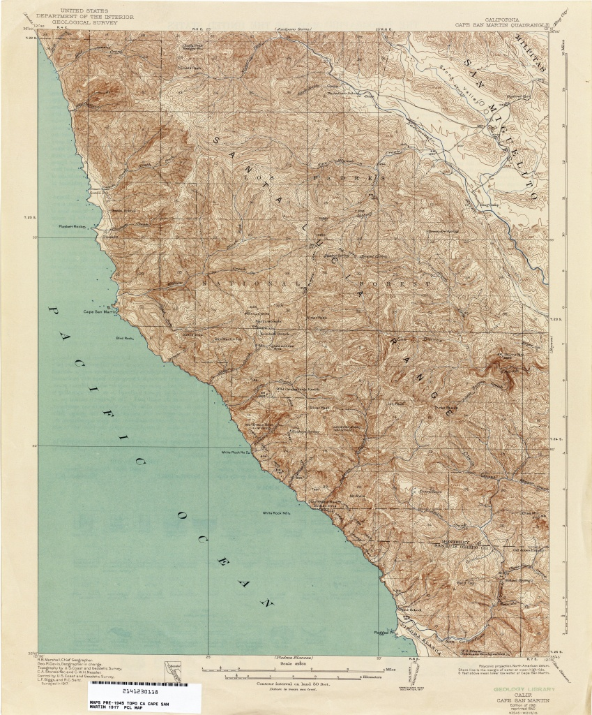 California Topographic Maps - Perry-Castañeda Map Collection - Ut - California Topographic Map