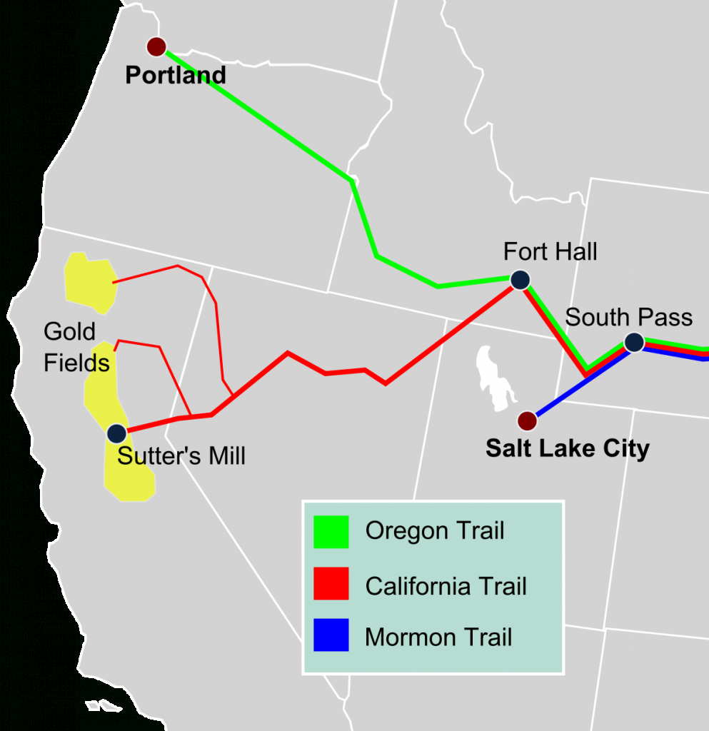 California Trail - Wikipedia - California Rail Pass Map