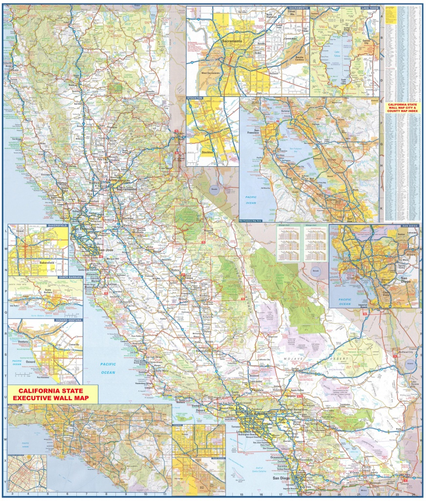 California Wall Map Executive Commercial Edition - California Wall Map