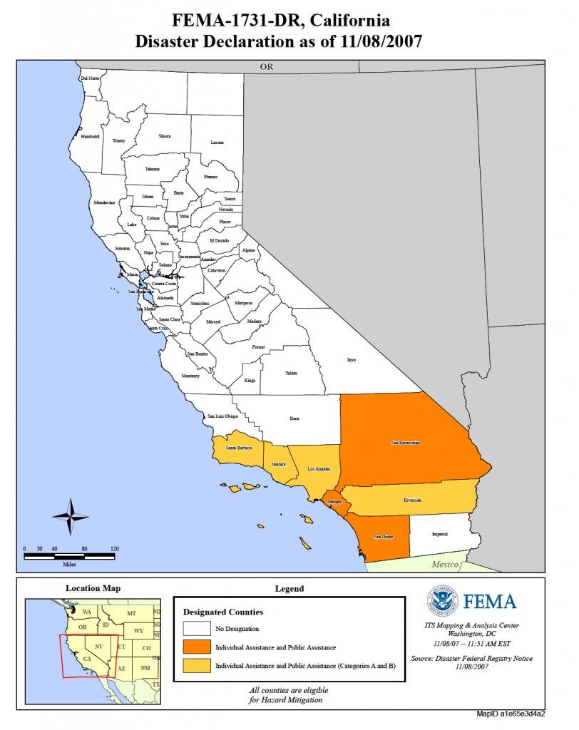 California Wildfires (Dr-1731) | Fema.gov - California Flood Insurance Rate Map