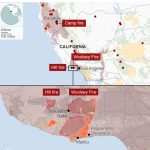 California Wildfires: Fears Of Further Damage As Winds Strengthen   Active Fire Map For California