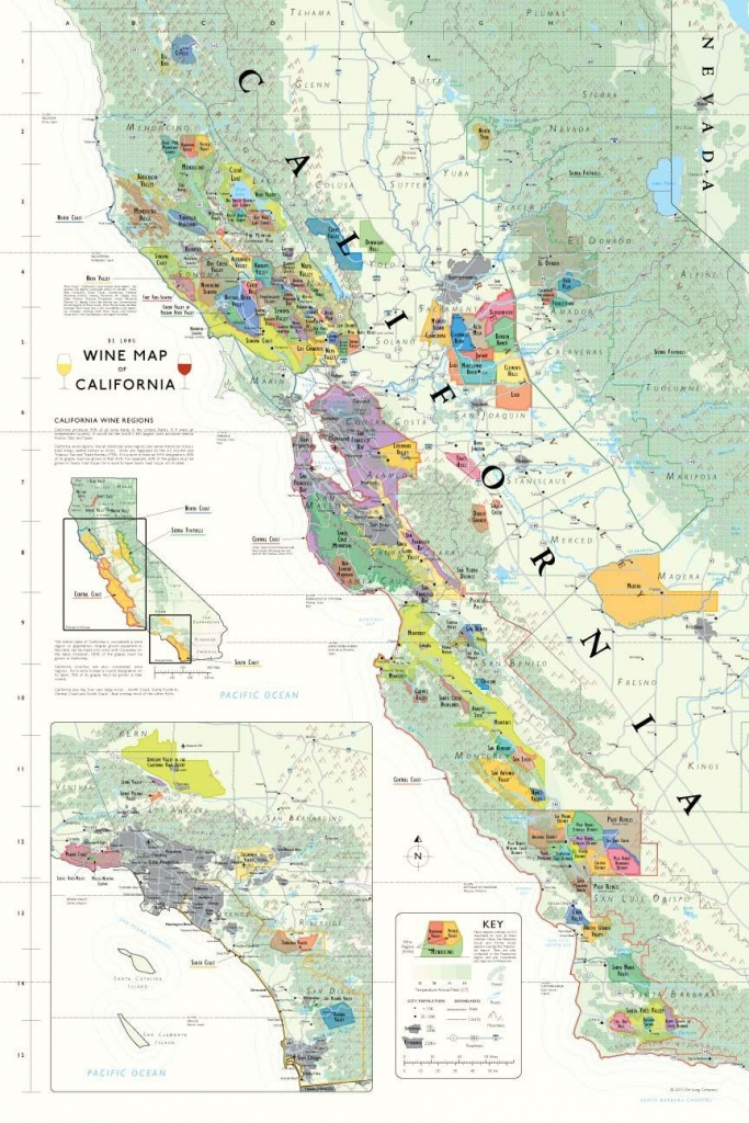 California Wine Country Map In 2019 | Wine Regions Of U.s. - Map Of California Wine Appellations