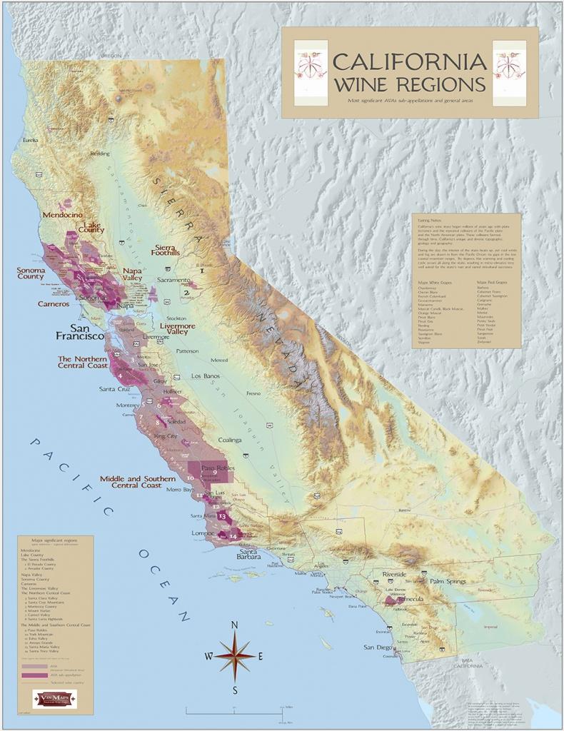 California Wine Regions - California Wine Map