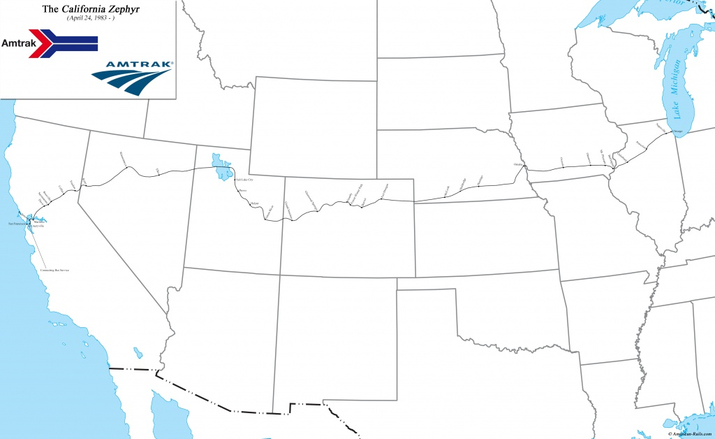 California Zephyr - Amtrak California Zephyr Route Map