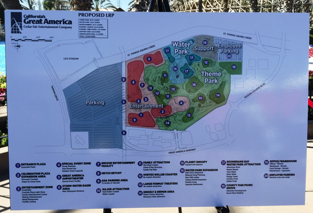California's Great America Announces Plans For Future | Forums - California's Great America Map 2018