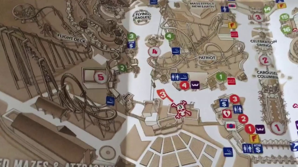 California's Great America Halloween Haunt Map Sep/23/2018 - Youtube - California's Great America Map 2018