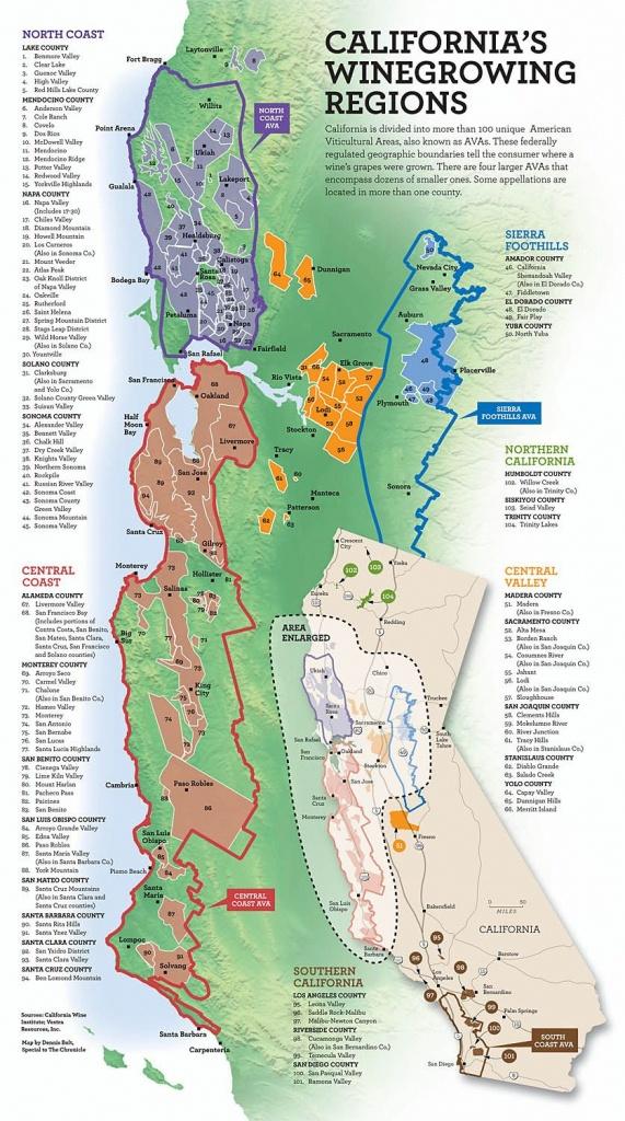 California's Wine Growing Regions   Infographics   Italian Wine - Map Of California Wine Appellations