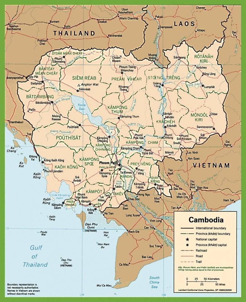 Cambodia Maps   Maps Of Cambodia - Printable Map Of Cambodia