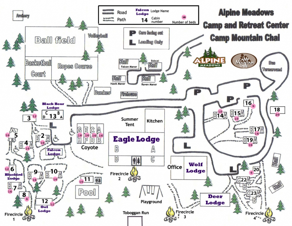 Camp Map | Retreat Center | Southern California | Alpine Meadows - Southern California Campgrounds Map