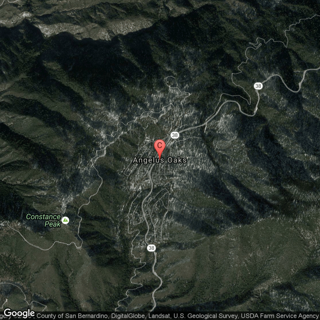 Campgrounds In The Angelus Oaks Area Of Southern California | Usa Today - Southern California Campgrounds Map