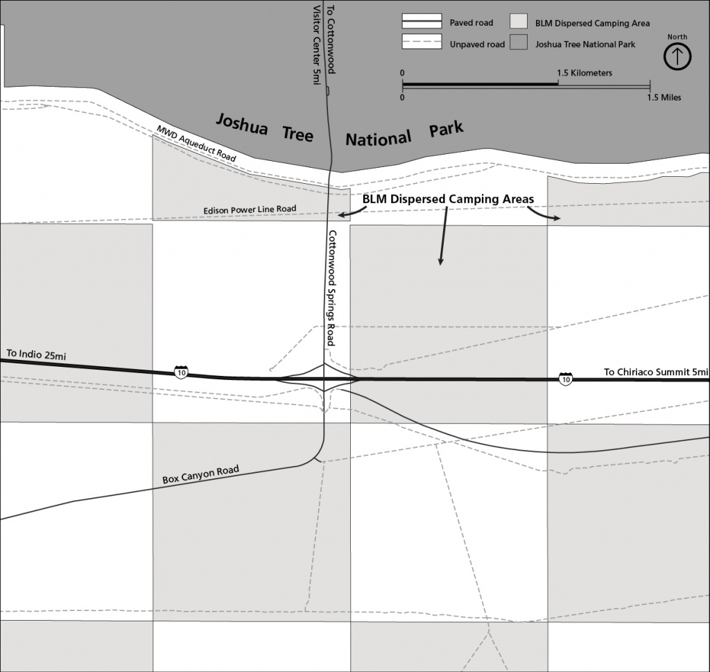 Camping Outside Of The Park - Joshua Tree National Park (U.s. - Blm Dispersed Camping California Map