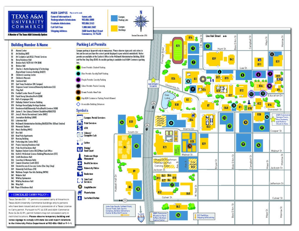 Campus Map | Department Of Art At Texas A&m University-Commerce - Texas A&m Map