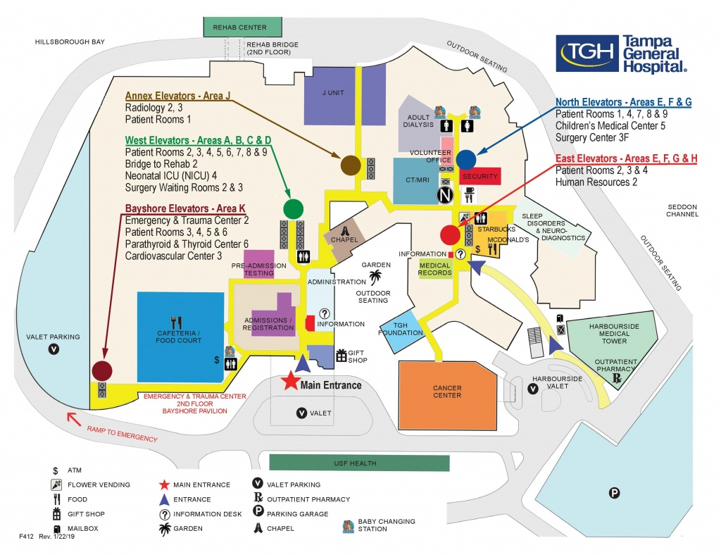 Campus Map | Tampa General Hospital - Florida Hospital South Map