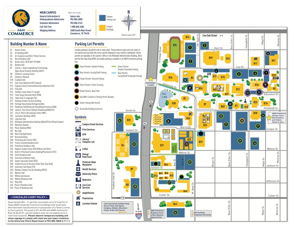 Campus Map - Texas A&m University-Commerce - Texas A&m Map