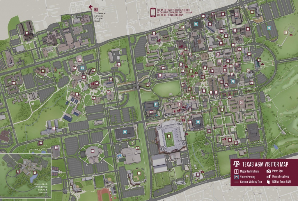 Campus Map | Texas A&m University Visitor Guide - Texas A&m Parking Map
