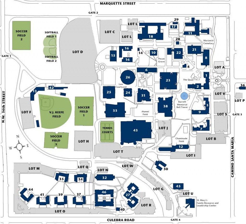 Campus Map | Texas - St. Mary's (San Antonio) | Campus Map, Map - South Texas College Mid Valley Campus Map