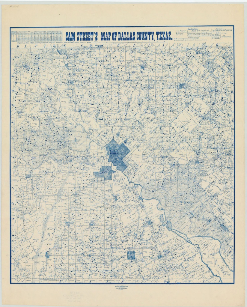 Can You Find Your Neighborhood On This 1900 Map Of Dallas? - Oak Cliff - Street Map Of Dallas Texas
