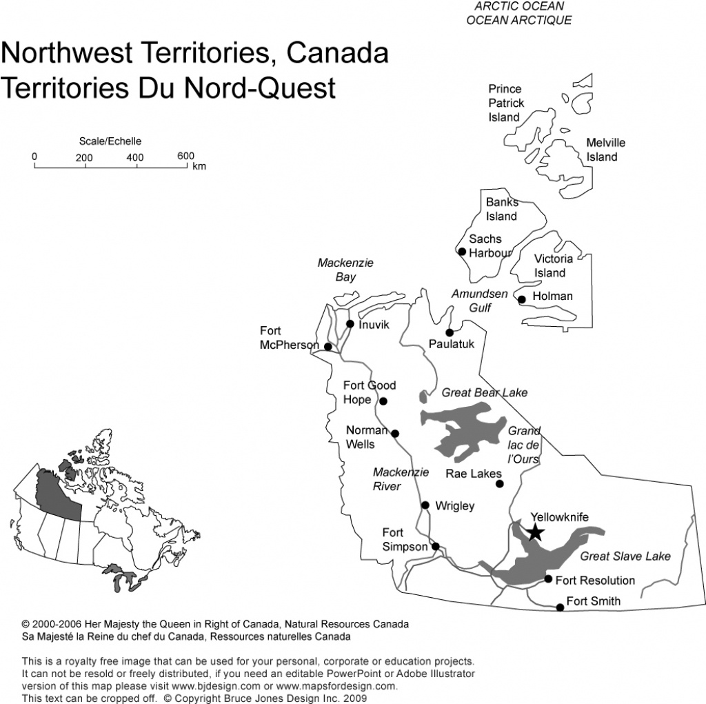 Free Printable Map Of Canada Provinces And Territories ...