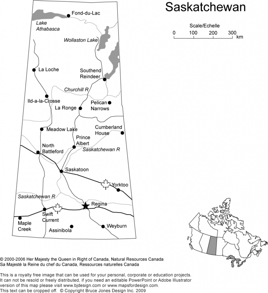 Canada And Provinces Printable, Blank Maps, Royalty Free, Canadian - Printable Map Of Saskatchewan