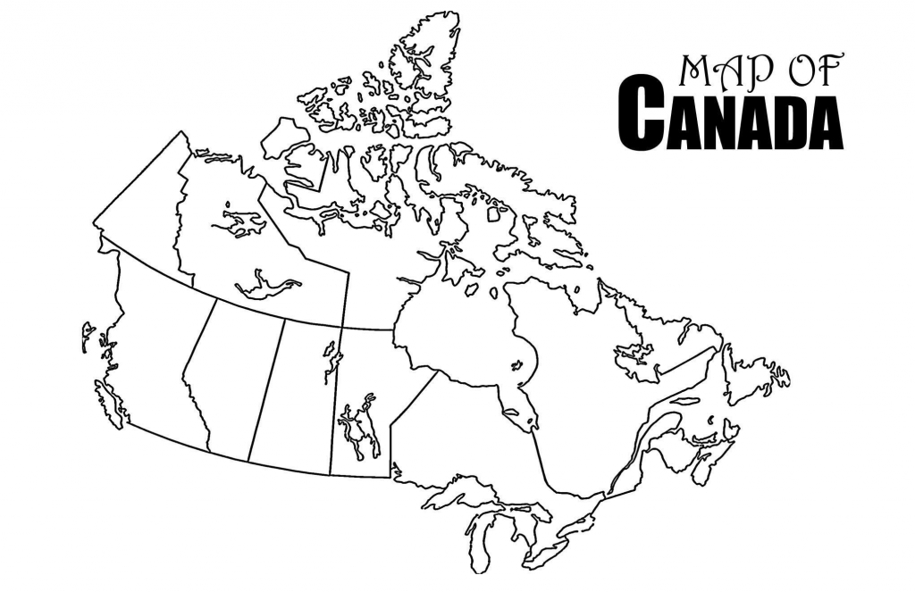 Canada Map Drawing At Paintingvalley | Explore Collection Of - Printable Map Of Canada