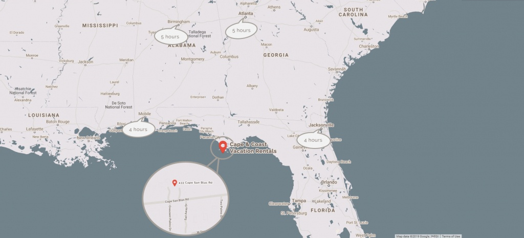 Cape And Coast Vacation Rentals | The Very Best Of Florida - Cape San Blas Florida Map