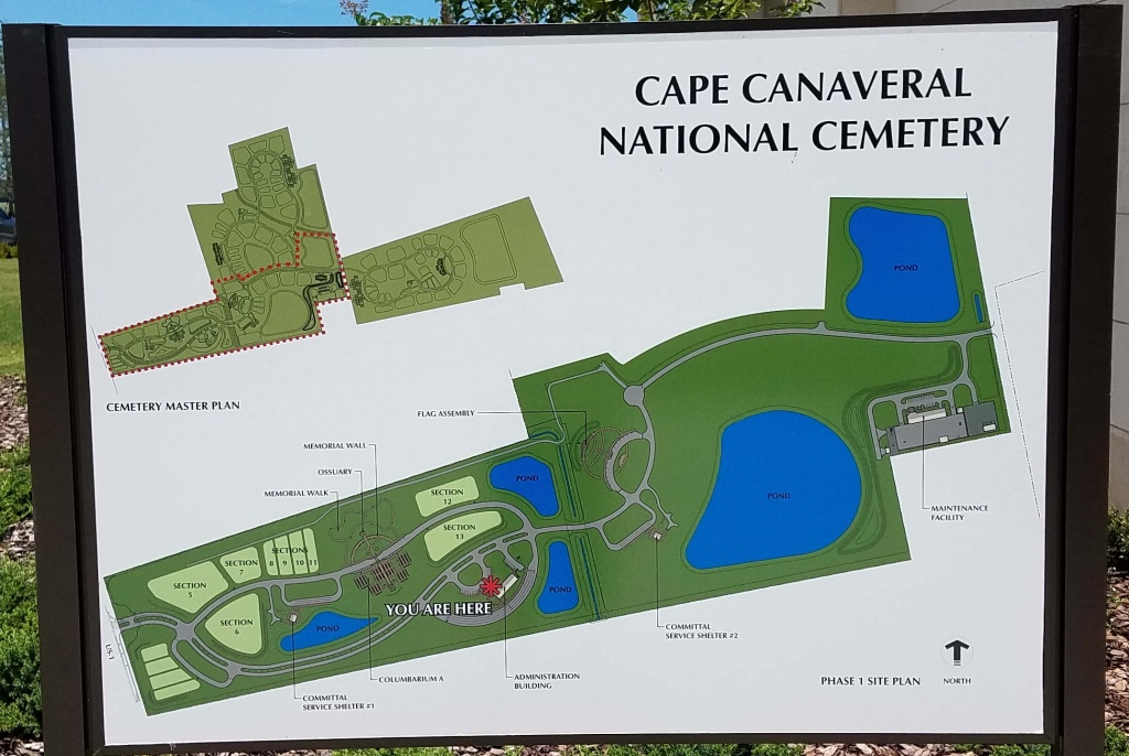 Cape Canaveral National Cemetery In Mims, Florida - Find A Grave - Florida National Cemetery Map