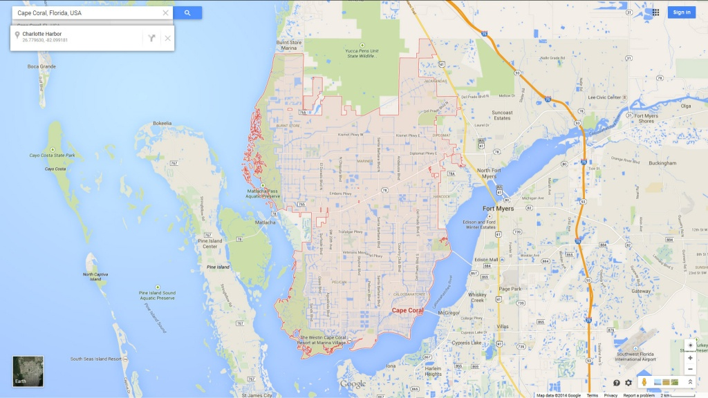 Cape Coral, Florida Map - Map Of Florida Including Cape Coral