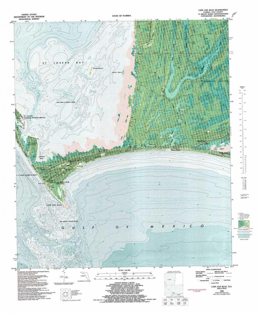 Cape San Blas Topographic Map, Fl - Usgs Topo Quad 29085F3 - Cape San Blas Florida Map
