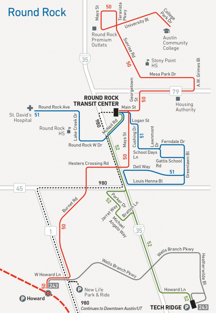 Capital Metro Service Begins In Round Rock Aug. 21 - Round Rock Texas Map